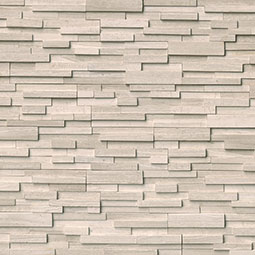White Oak 3D Honed RockMount Stacked Stone Panels