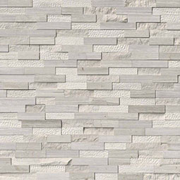 White Oak Multi Finish RockMount Stacked Stone Panels