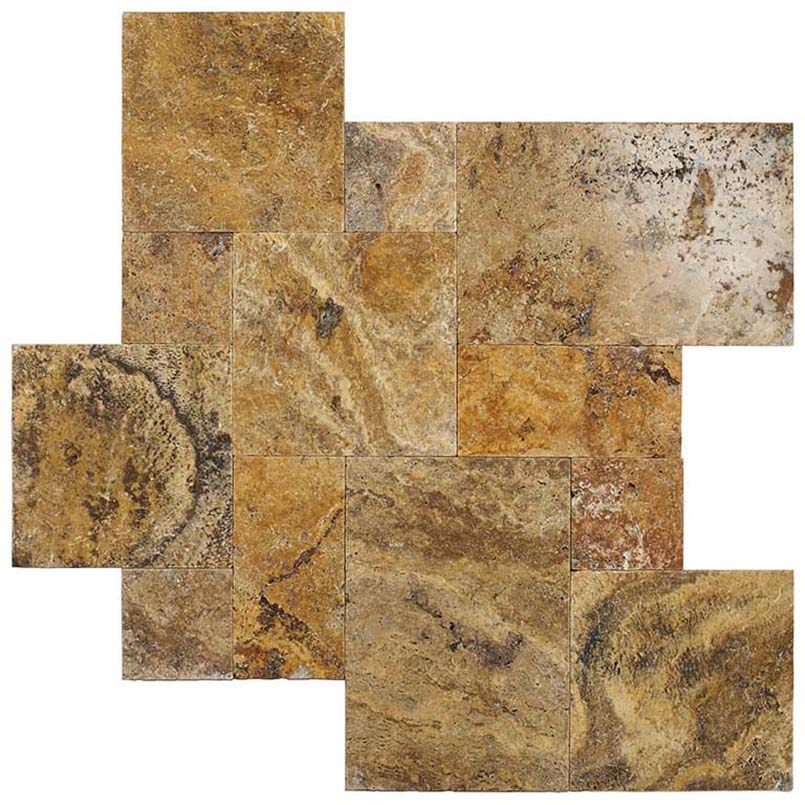 tuscany scabas travertine pavers variations 1