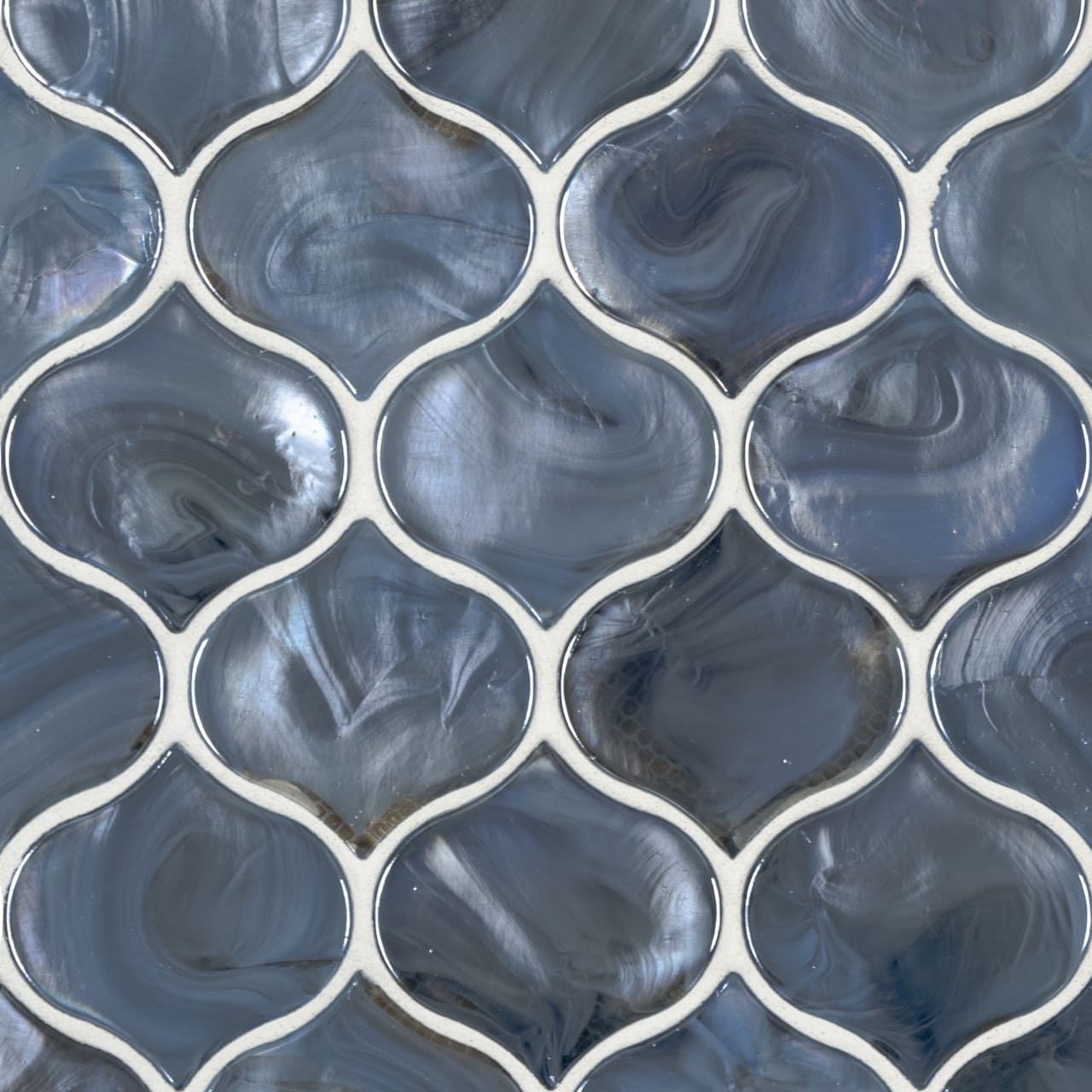 Blue Shimmer Arabesque Mosiac Tile