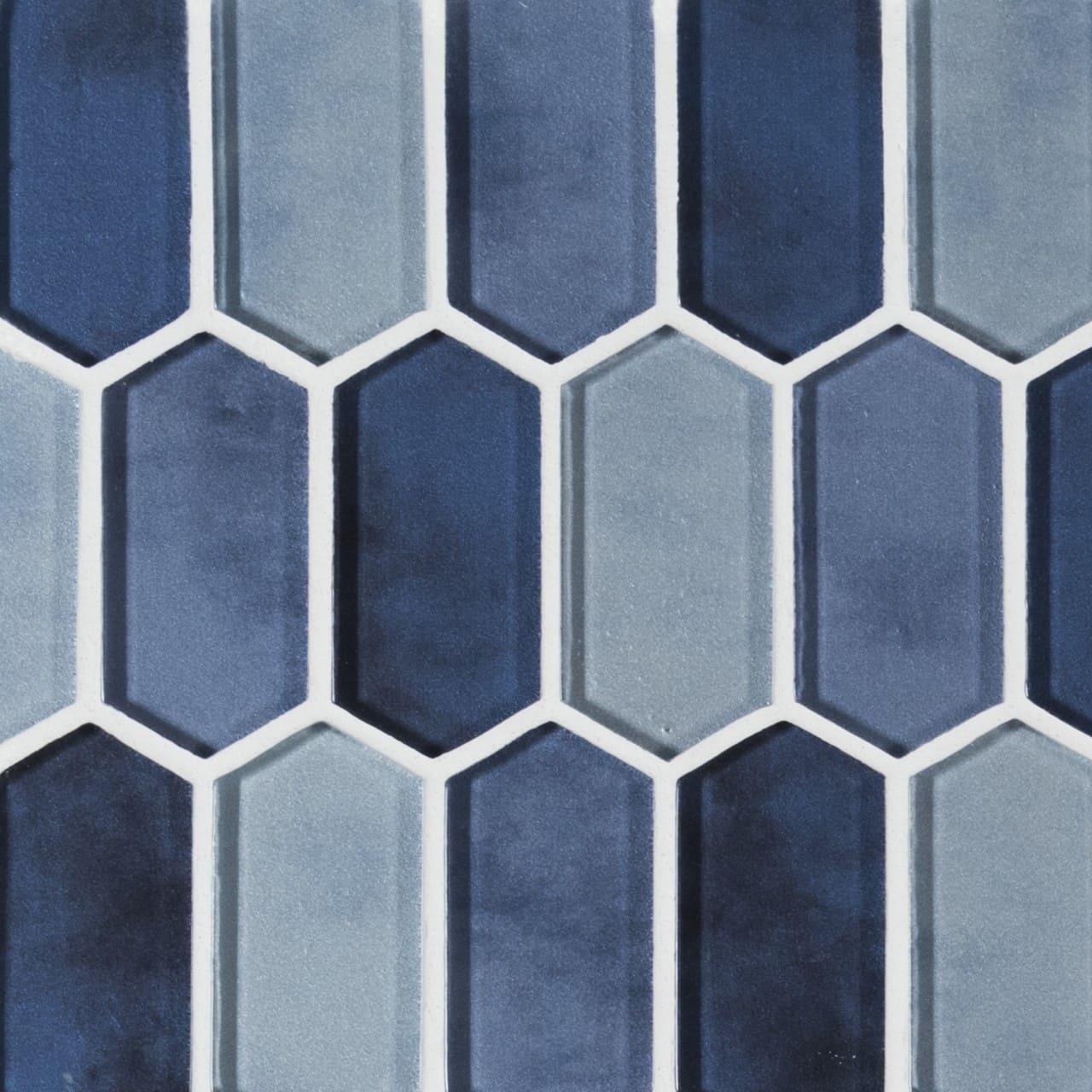 Boathouse Blue Picket Wall Tile