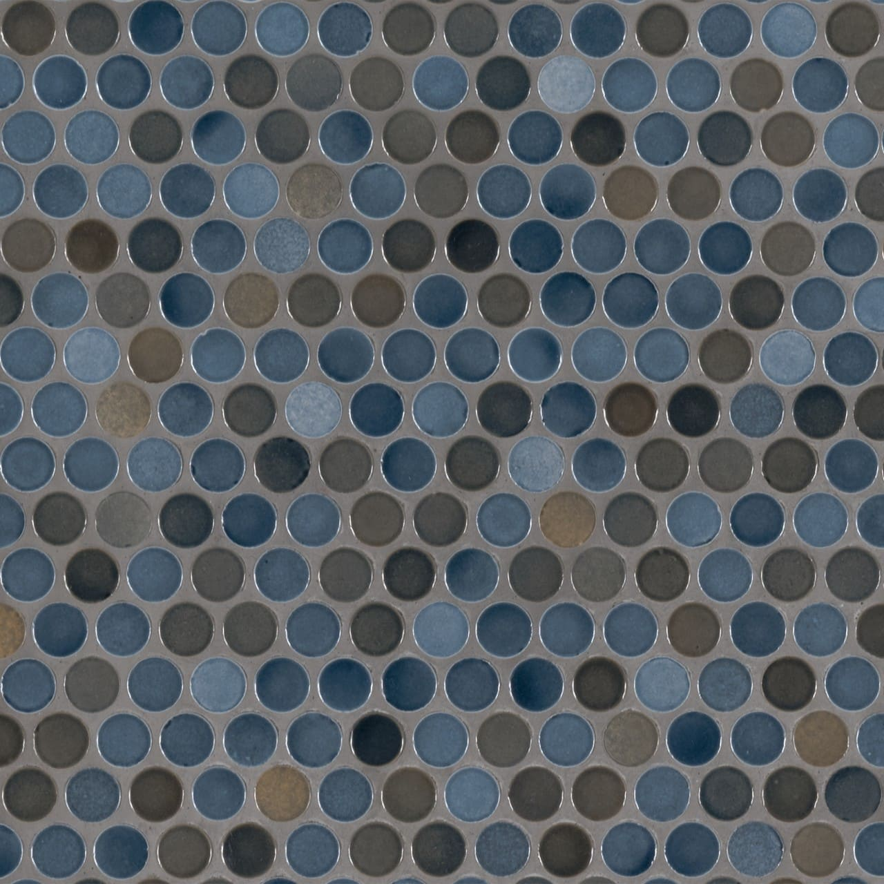 Penny Round Azul Glossy Subway Tile