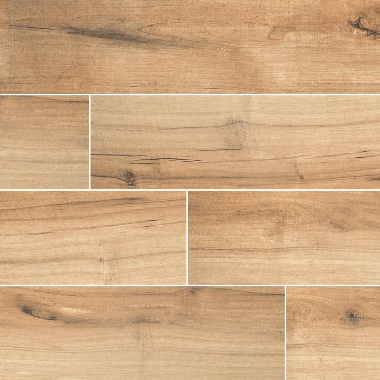 Palmetto Cognac Wood Look Porcelain Tile