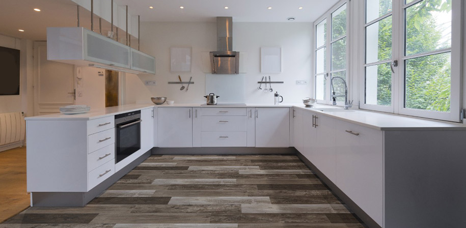 Brina Vinyl flooring Modern Kitchen