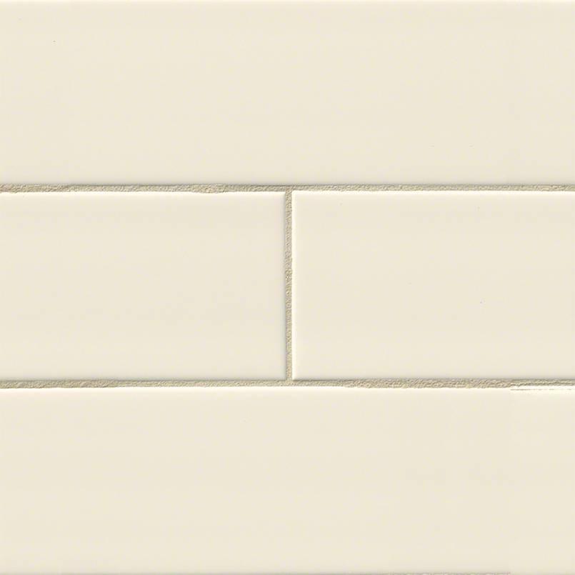Almond Glossy Subway Tile Mosaic Tile Backsplash