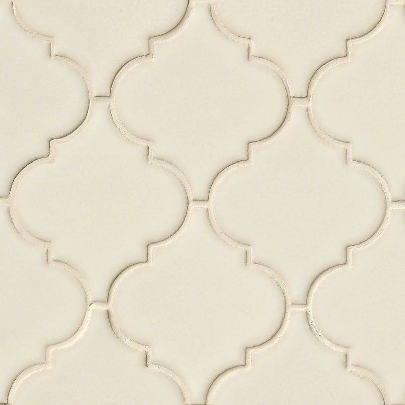 Antique White Arabesque 8mm