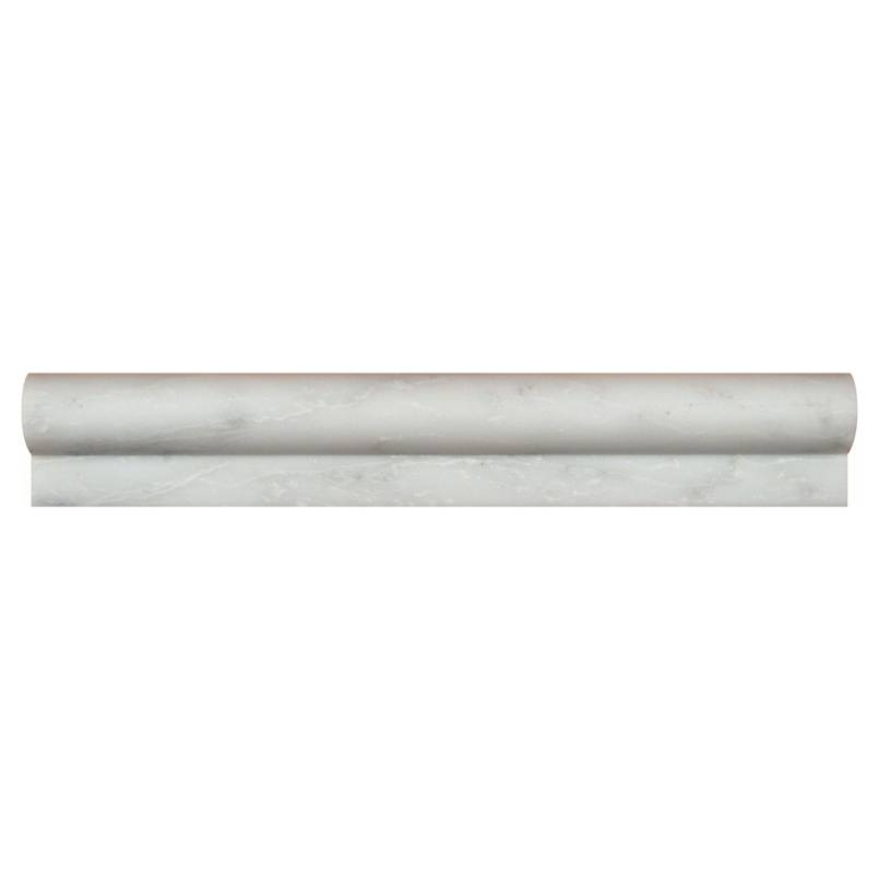 Arabescato Cararra 1x2x12 Honed Rail Molding