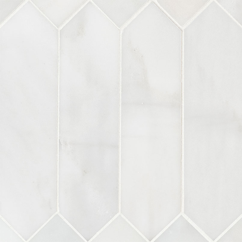 White Picket Tile Backsplash