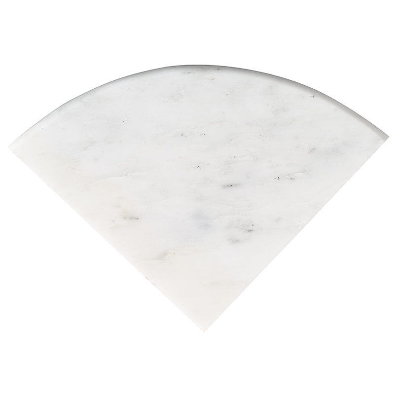 "Arabescato Carrara 9"" Radius Cornershelf Polished"