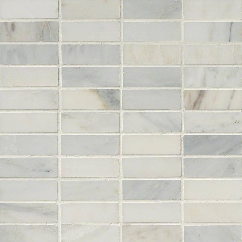 Arabescato Carrara1x3 Honed in 12x12 Mesh