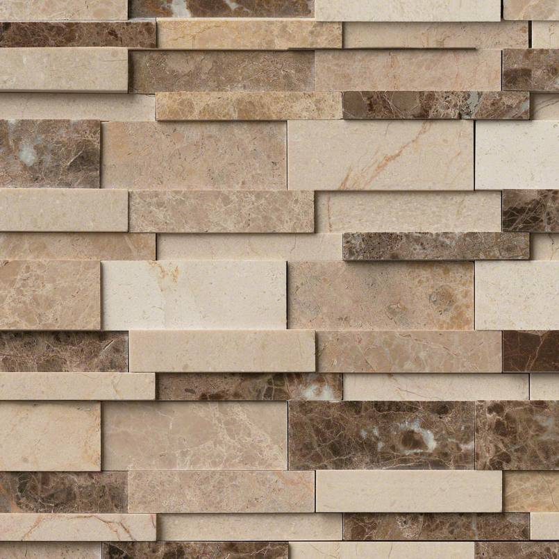 Asteria Blend Interlocking 3d Polished Pattern Backsplash