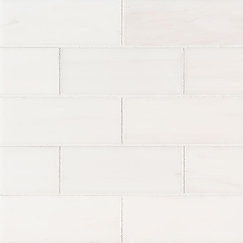 Bianco Dolomite Subway Tile 3x6 Polished