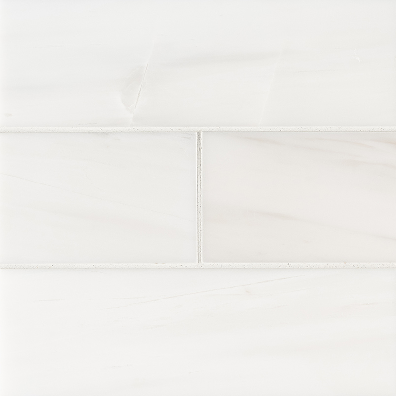 Bianco Dolomite Subway Tile 4x12 Polished