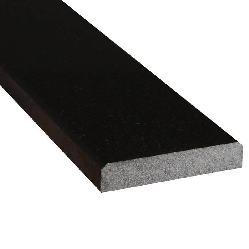 Black Granite 4x36x.75 Polished Double Beveled Threshold