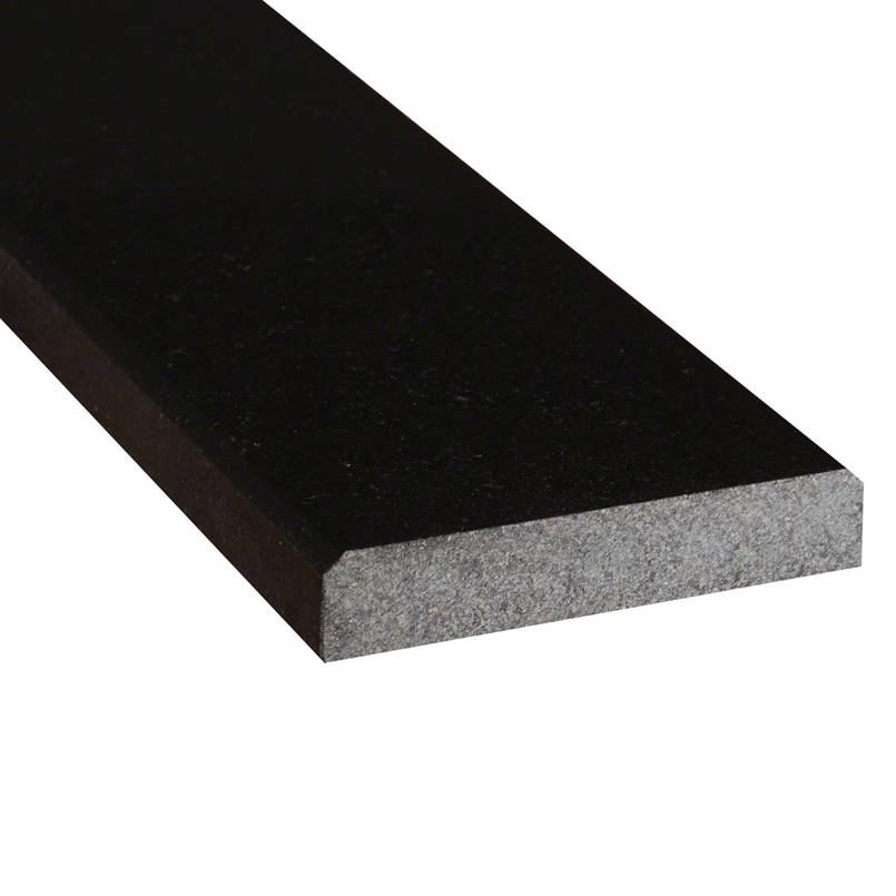 Black Granite 6x36x0.75 Polished Double Beveled Threshold
