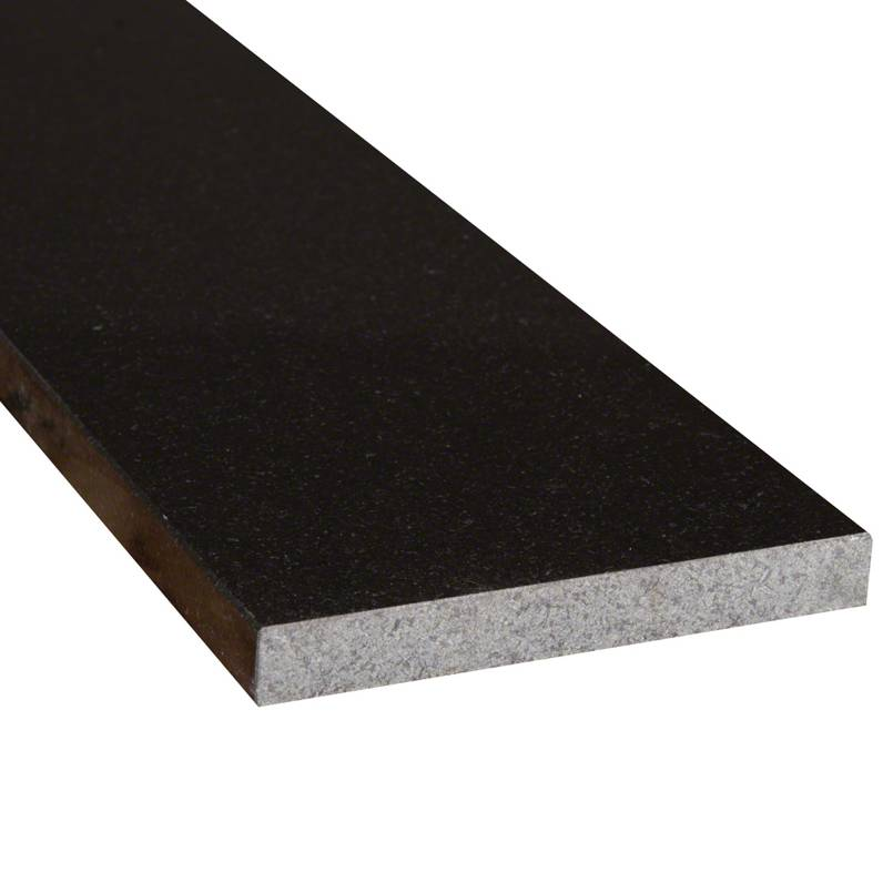 Black Granite 6x72x.75 Polished Double Beveled Threshold