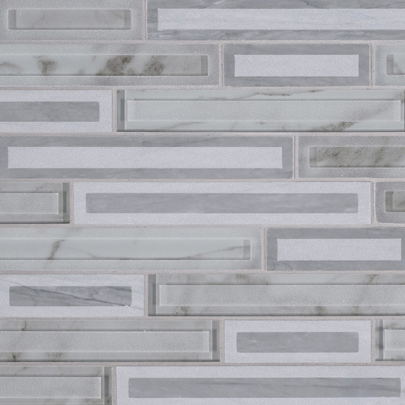 Blocki Grigio Interlocking Pattern 8mm Decorative Mosaic Tile