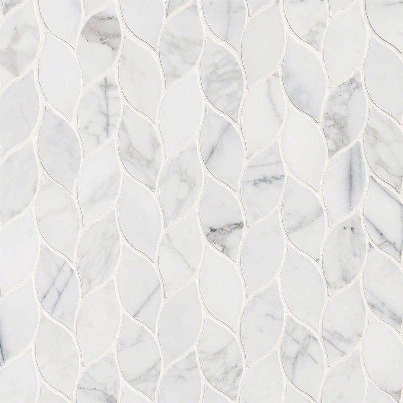 Calacatta Blanco Pattern Polished Backsplash Tile