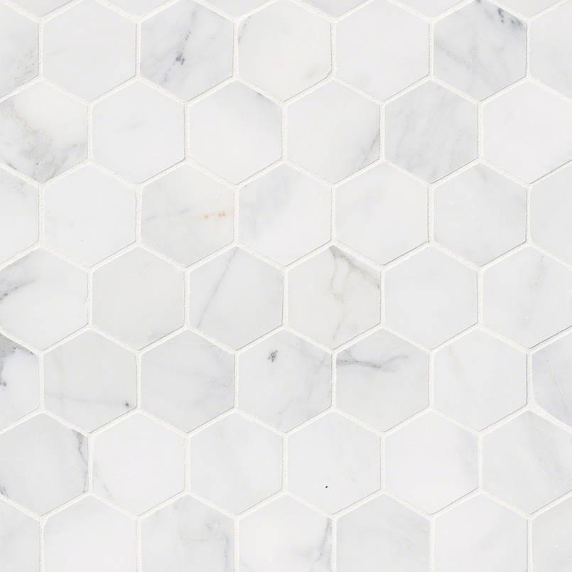 """Calacatta Cressa 2""""Hexagon Honed"""