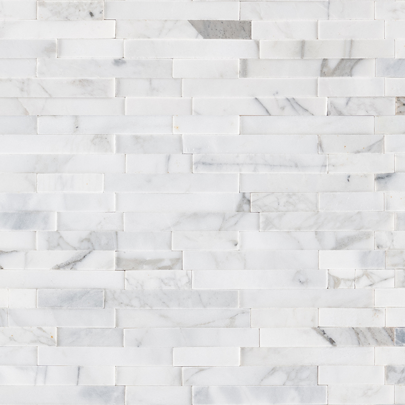Calacatta Cressa Interlocking 3D Peel and Stick Backsplash