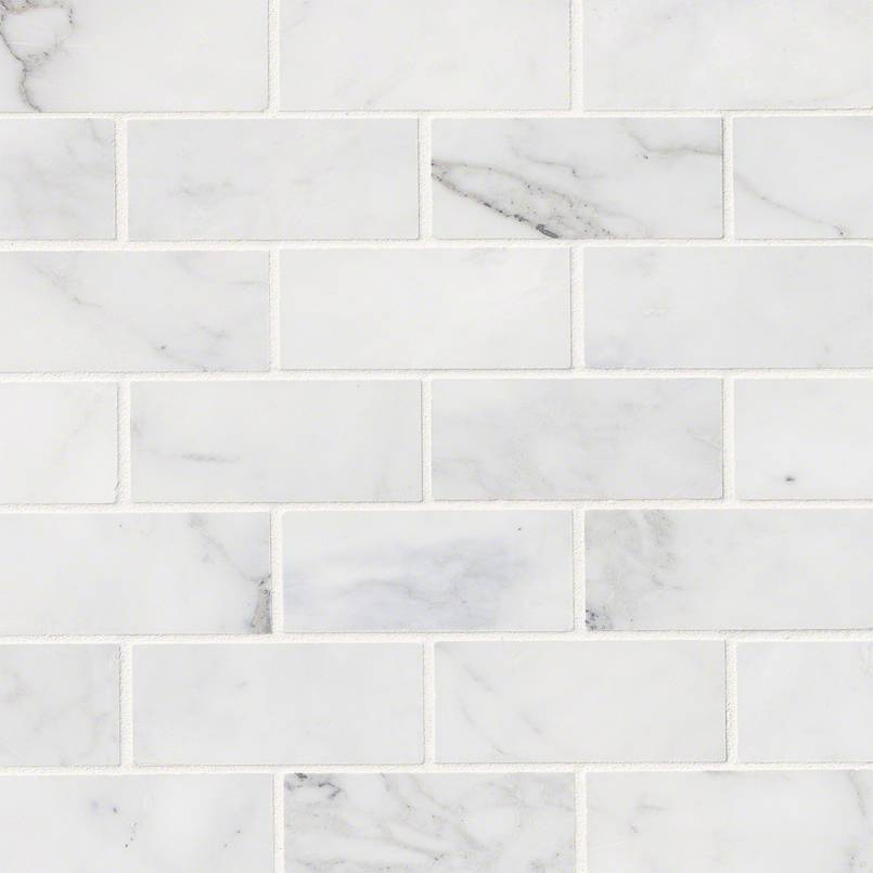 Calacatta Cressa White Subway Tile