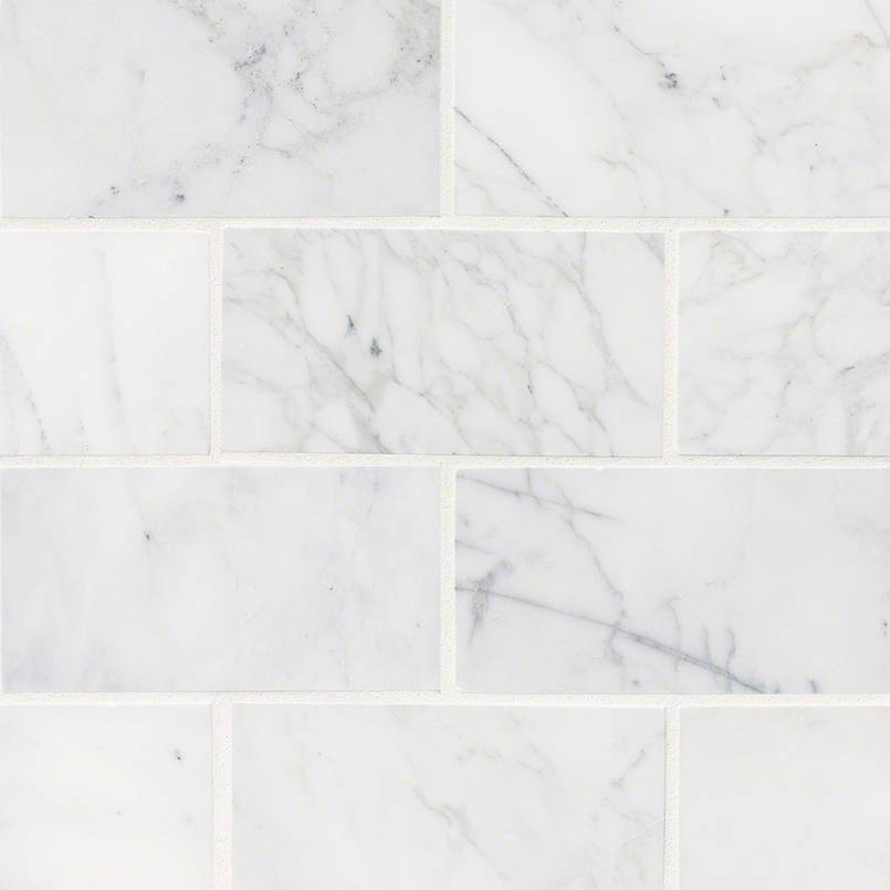Calacatta Cressa White Subway Tile 3x6