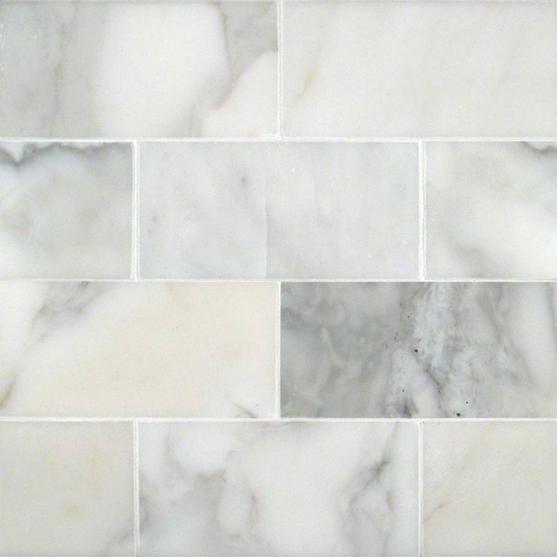 Calacatta Gold Subway Tile Collection White