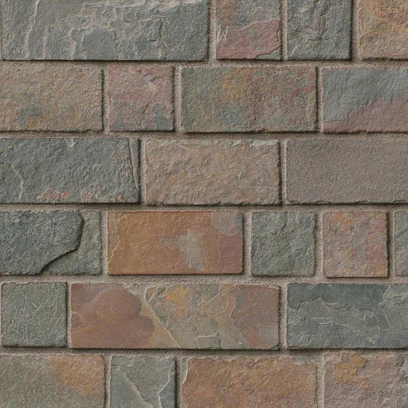 California Gold Tumbled Brick Pattern in 12x12 Mesh