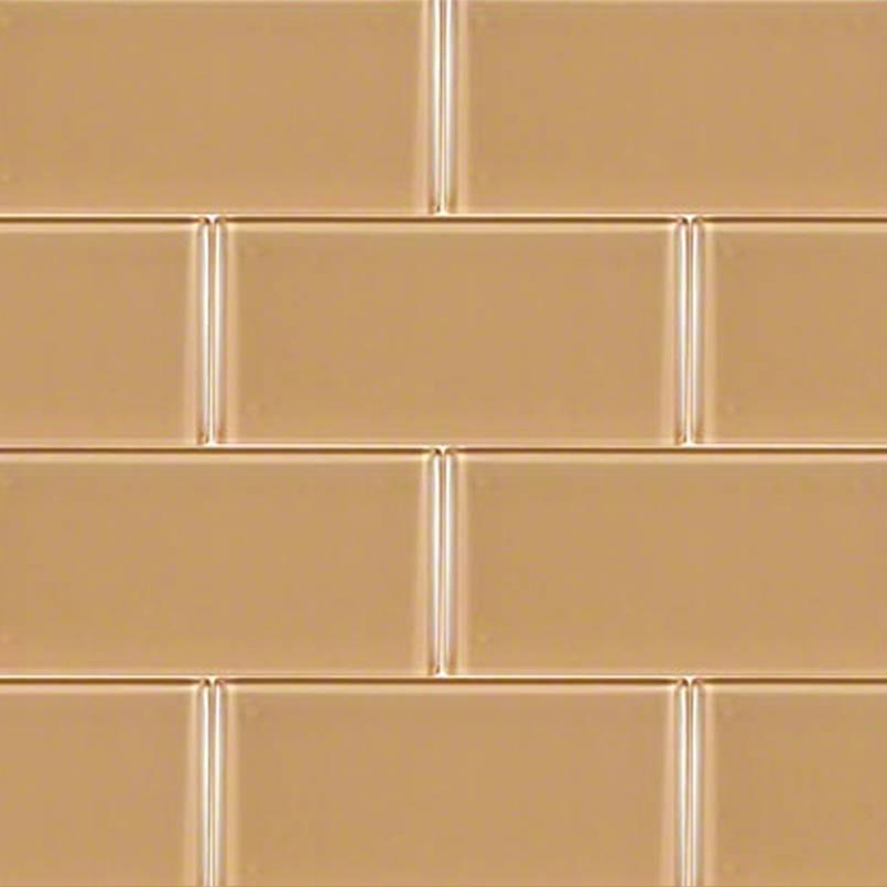 Caramel Glass Subway Tile 3x6