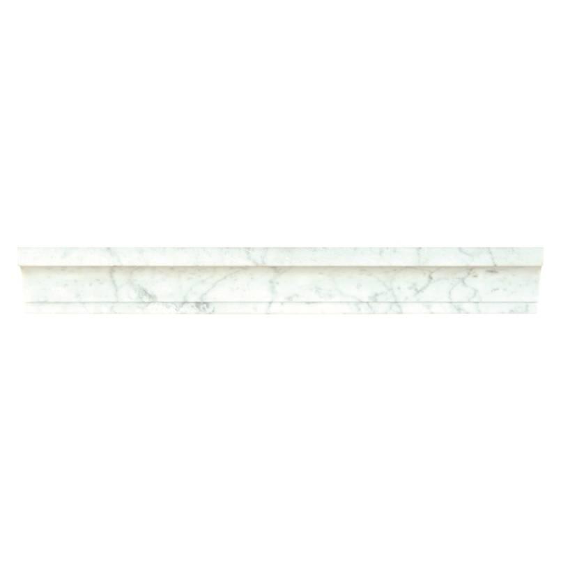 Carrara White Cornice Molding Polished