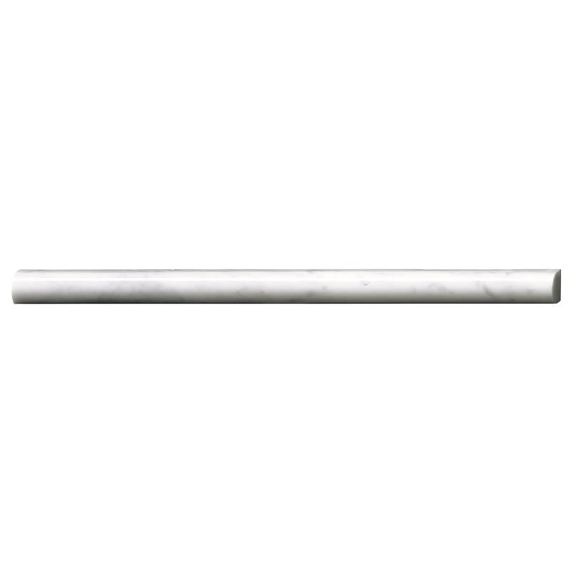 Carrara White Pencil Molding Polished