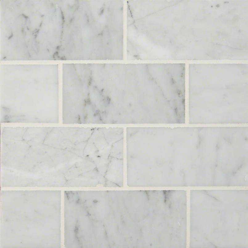 Carrara White Subway Tile 3x6