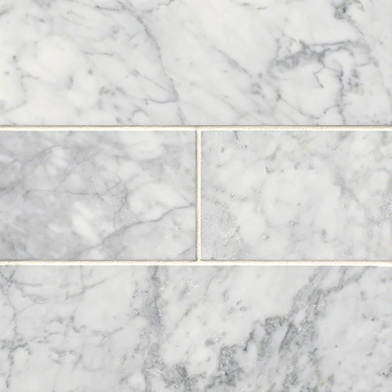 Carrara White Subway Tile 4x12