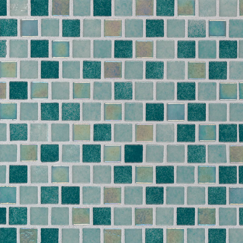 Carribean Jade 1x1x4mm Staggered Pool Tile