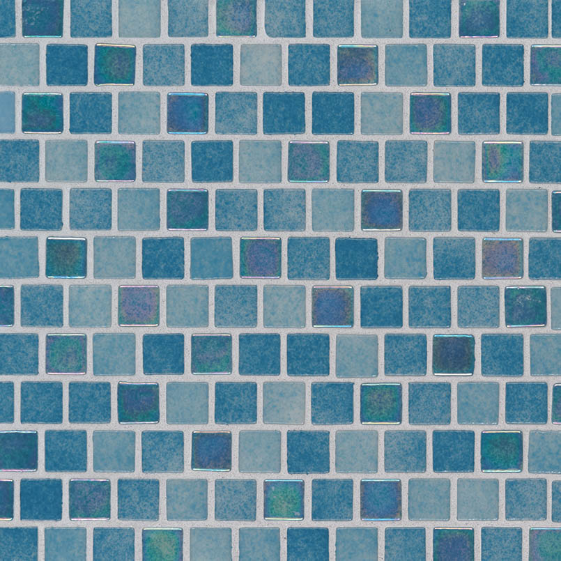 Carribean Reef 1x1x4mm Staggered Pool Tile