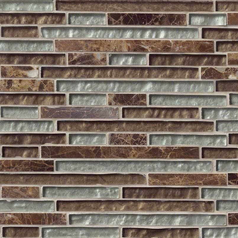 Celestine Blend Interlocking 8mm Decorative Mosaic Tile