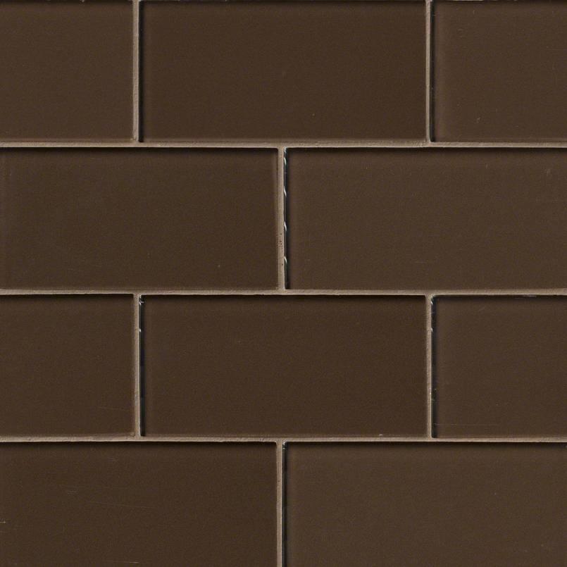 Cinnamon Glass Subway Tile 3x6