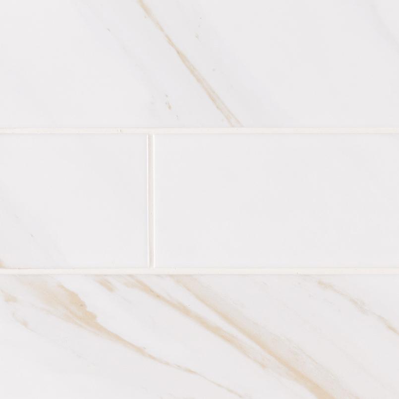 Classique White Calacatta Glossy 4X16