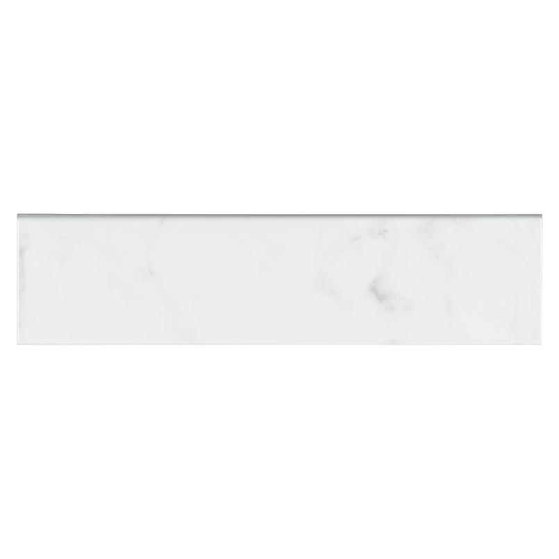 Classique White Carrara Glossy 4x16 Backsplash Tile
