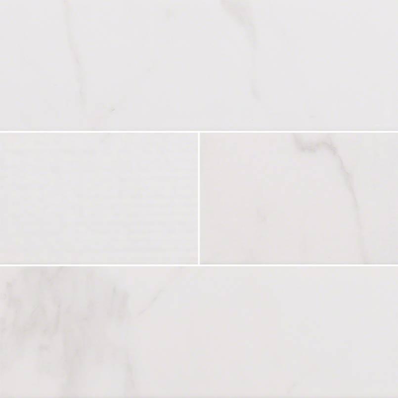 Classique White Carrara Glossy 4x16 Mix