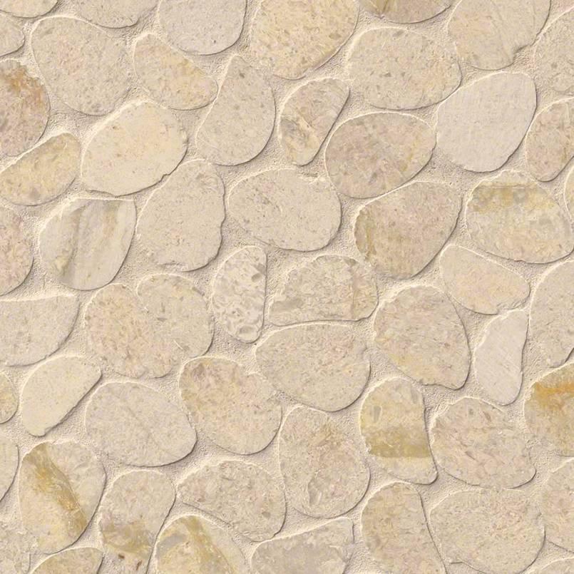 Coastal Sand Pebbles Pebble Backsplash
