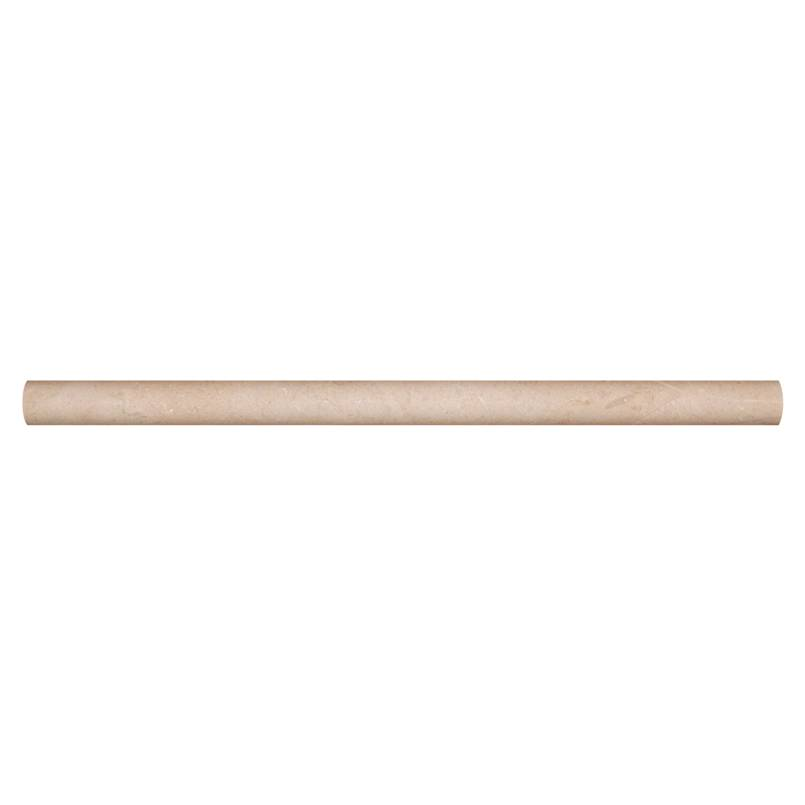 Crema Marfil 3/4x3/4x12 Honed Pencil Molding