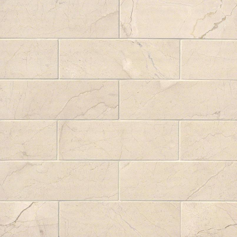 Crema Marfil Subway Tile Polished 4x12