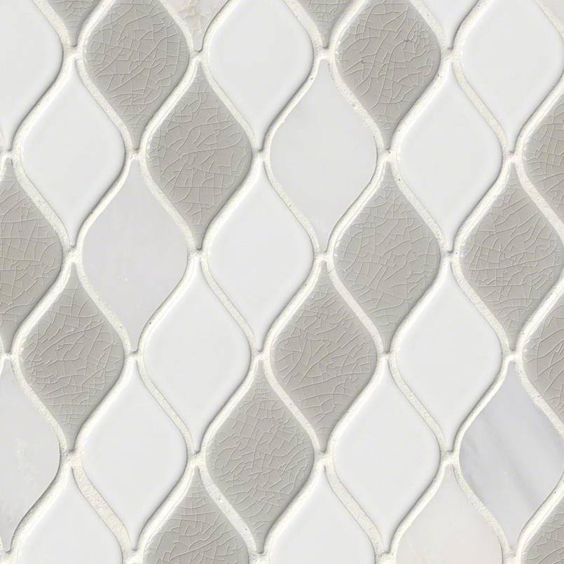 Cresta Blanco 8mm Decorative Mosaic Tile