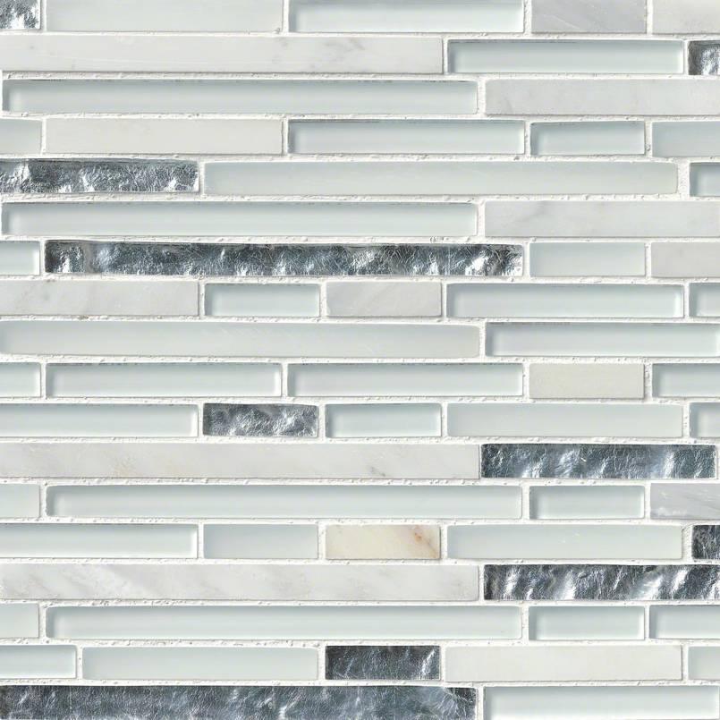 Cristallo Interlocking Pattern 8mm Decorative Mosaic Tile