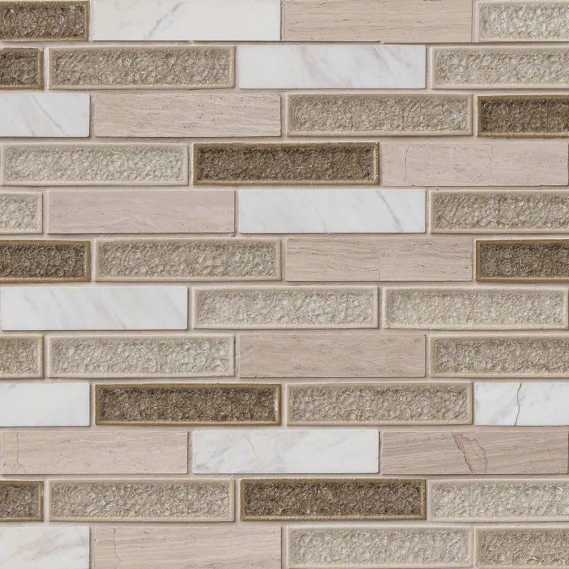 Crystal Cliffs 1x4x8mm Decorative Mosaic Tile