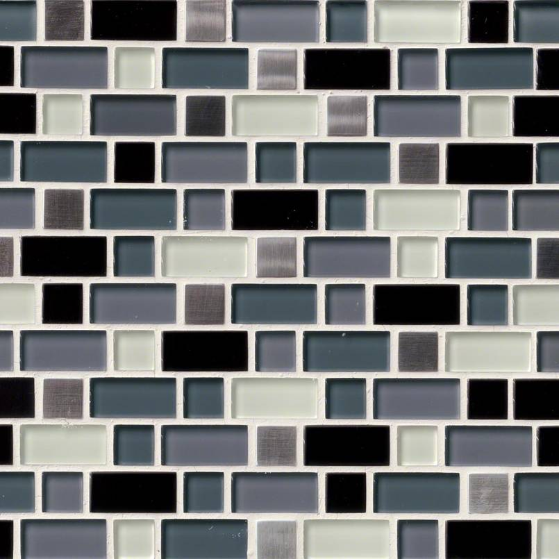 Crystal Cove Blend Interlocking Pattern 8mm Decorative Mosaic Tile