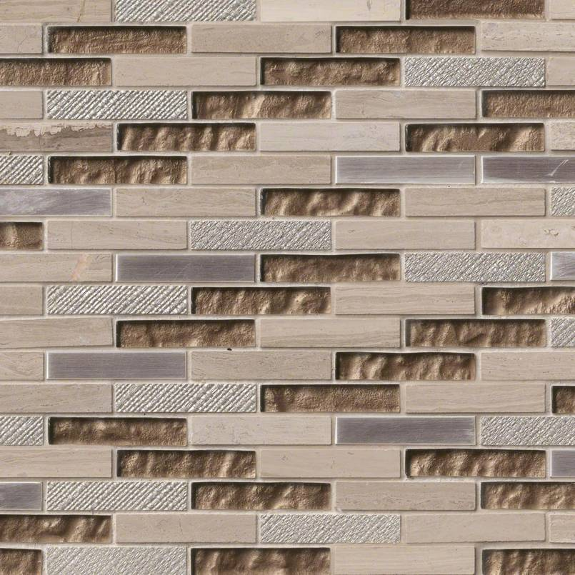 Diamante Brick 0.625x3x8mm Decorative Mosaic Tile