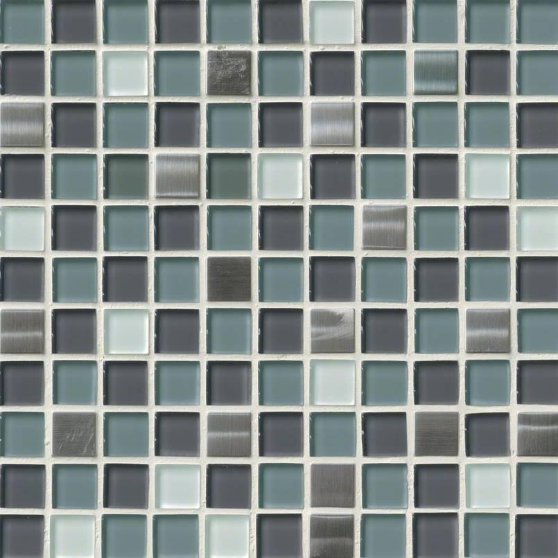 Diamond Cove Glass and Metal Blend 1x1x8mm Decorative Mosaic Tile