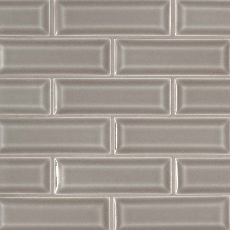 Dove Gray Beveled Subway Tile Ceramic Tile Subway Tile
